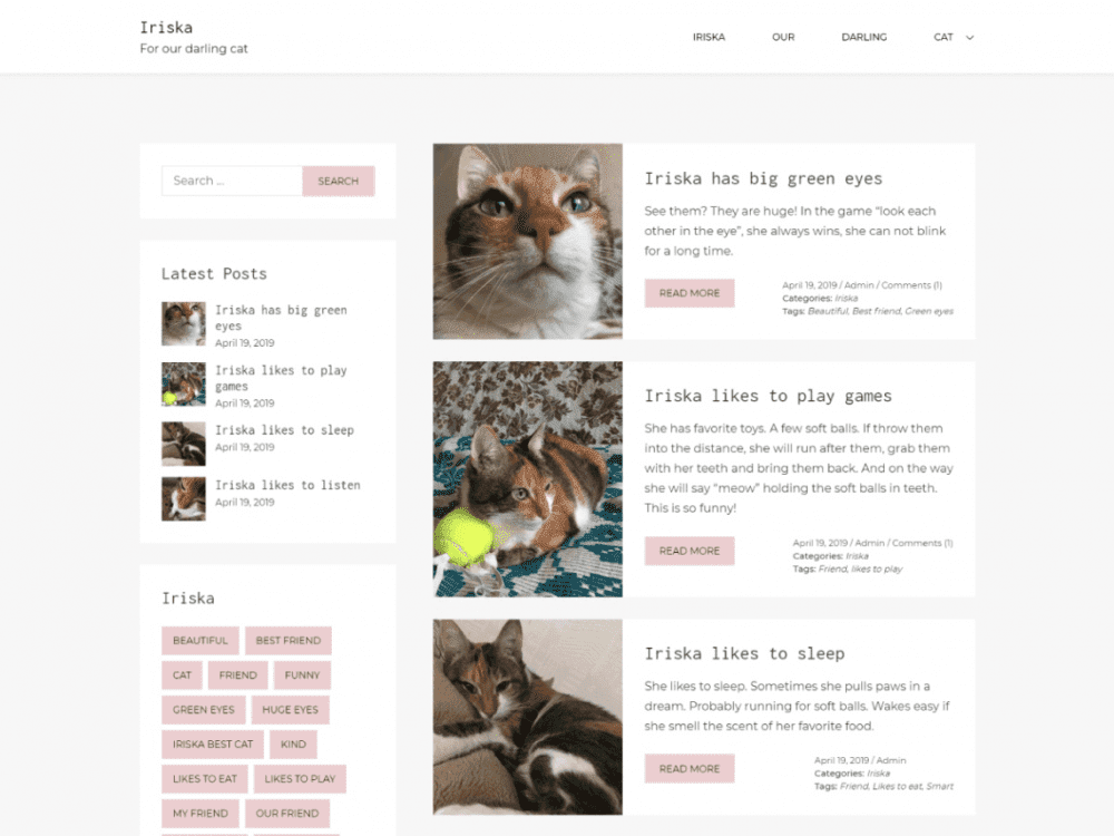 Free Iriska WordPress theme