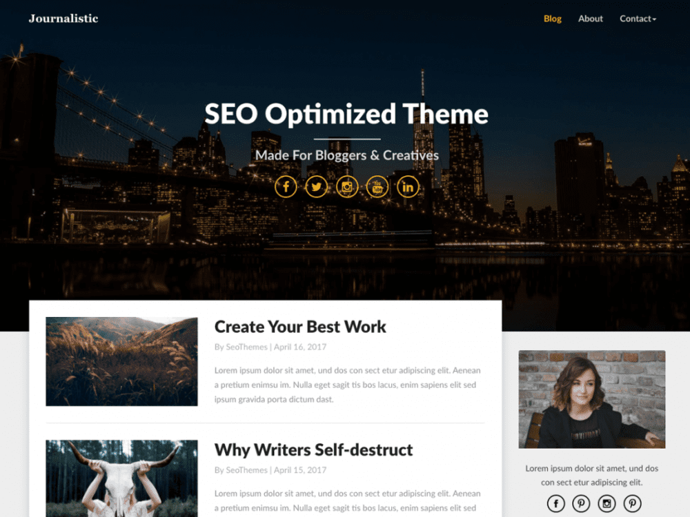 Free Journalistic WordPress theme
