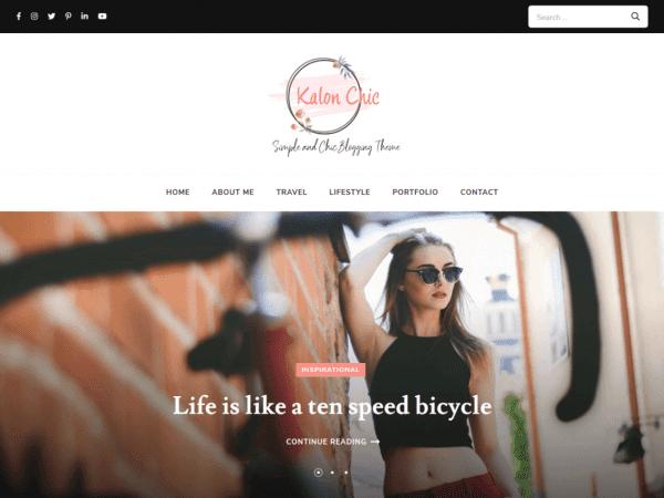Free Kalon Chic WordPress theme