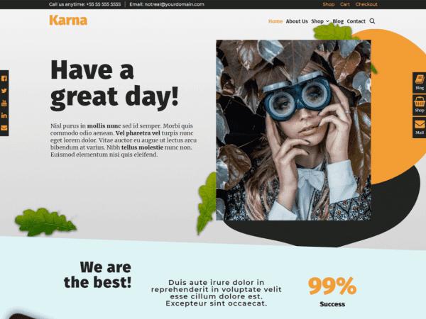 Free Karna WordPress theme