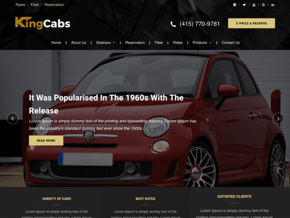 Free Kingcabs WordPress theme