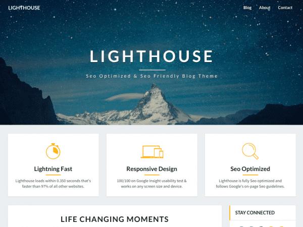Free Lighthouse WordPress theme