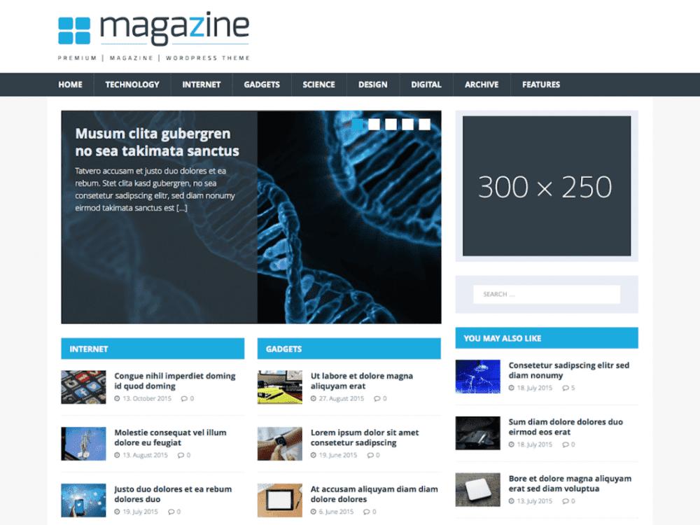 Free MH TechMagazine WordPress theme