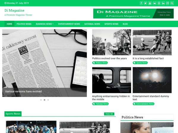 Free Magazine News Plus WordPress theme