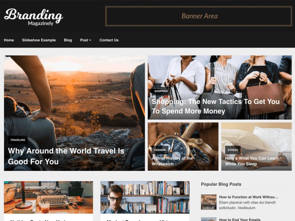 Free Magazinely WordPress theme