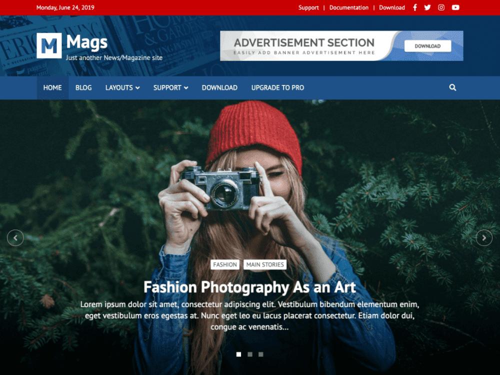 Free Mags WordPress theme