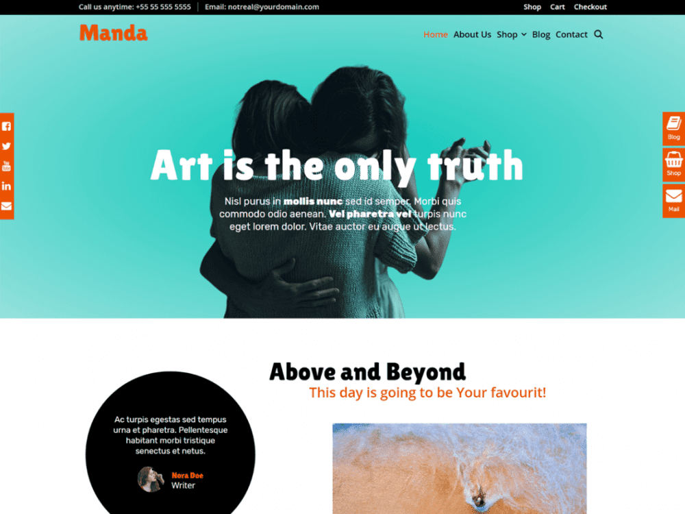 Free Manda WordPress theme