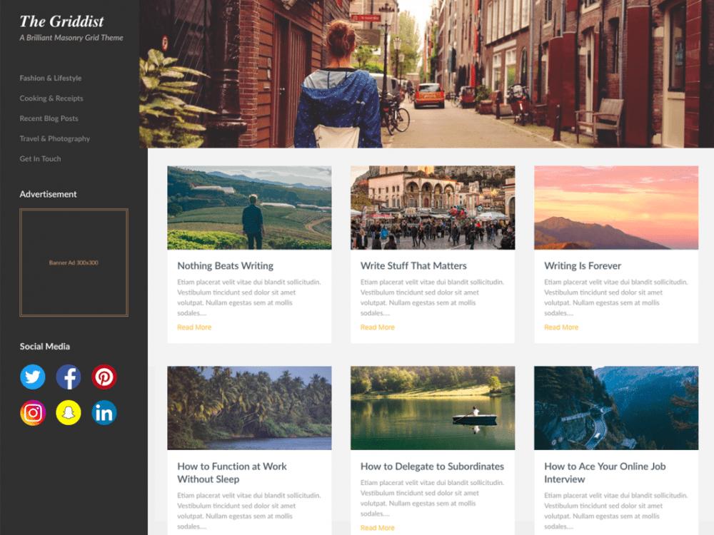 Free Masonry Hub WordPress theme