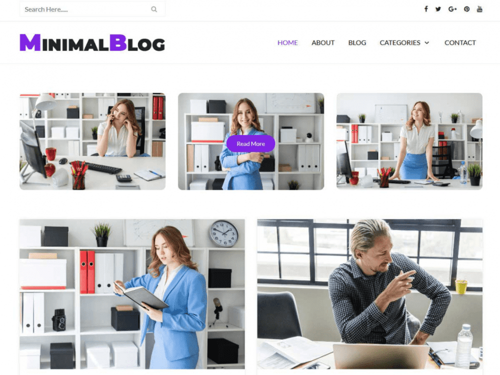 Free Minimalblog WordPress theme