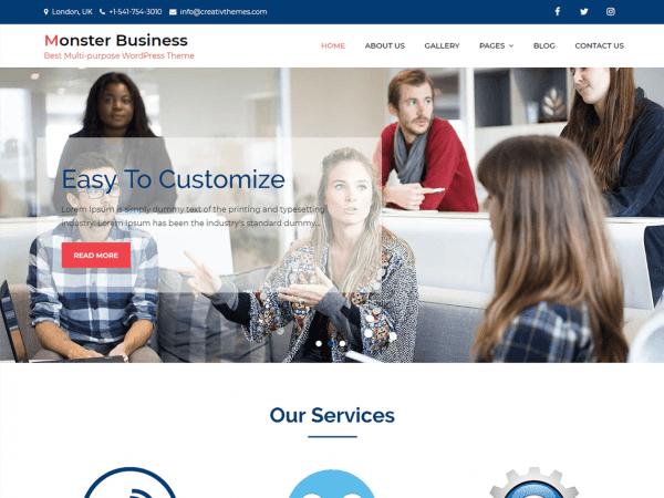 Free Monster Business WordPress theme