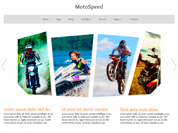 Free MotoSpeed WordPress theme