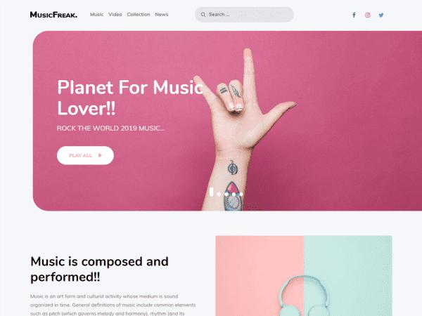 Free Music Freak WordPress theme
