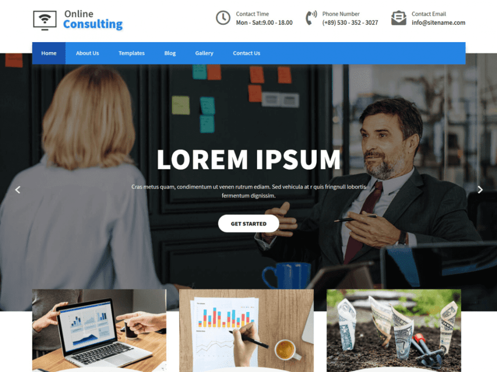 Free Online Consulting WordPress theme
