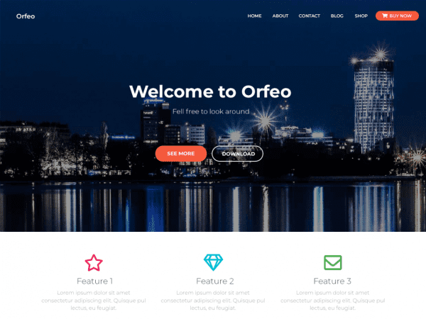 Free Orfeo WordPress theme