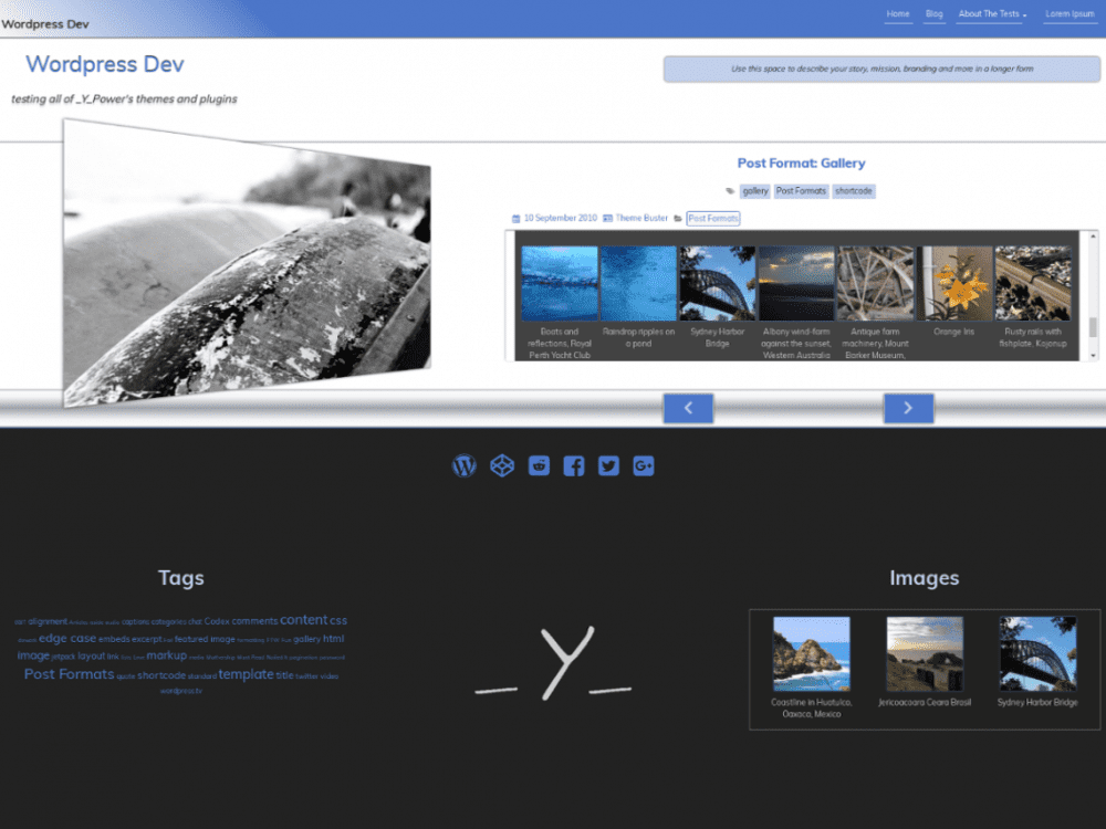 Free OverView WordPress theme