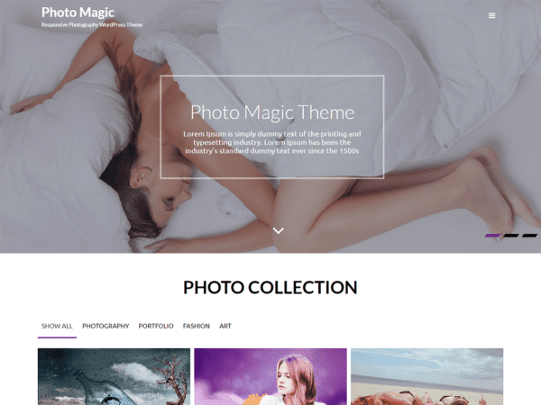 Free Photo Magic WordPress theme