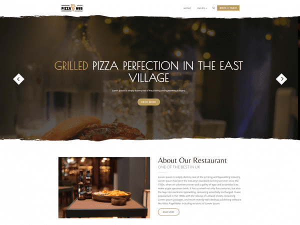 Free Pizza Hub WordPress theme