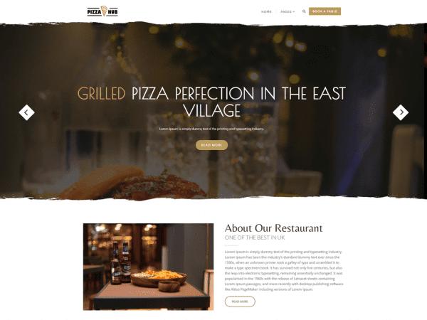 Free Pizza Hub WordPress theme