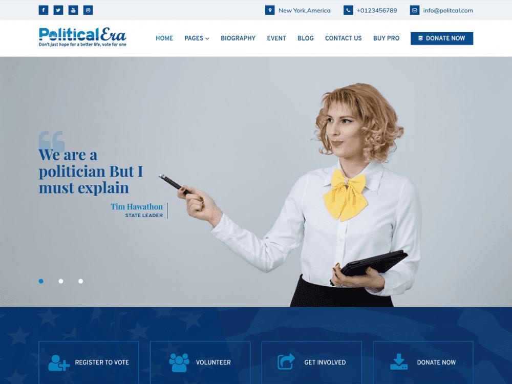 Free Political Era WordPress theme