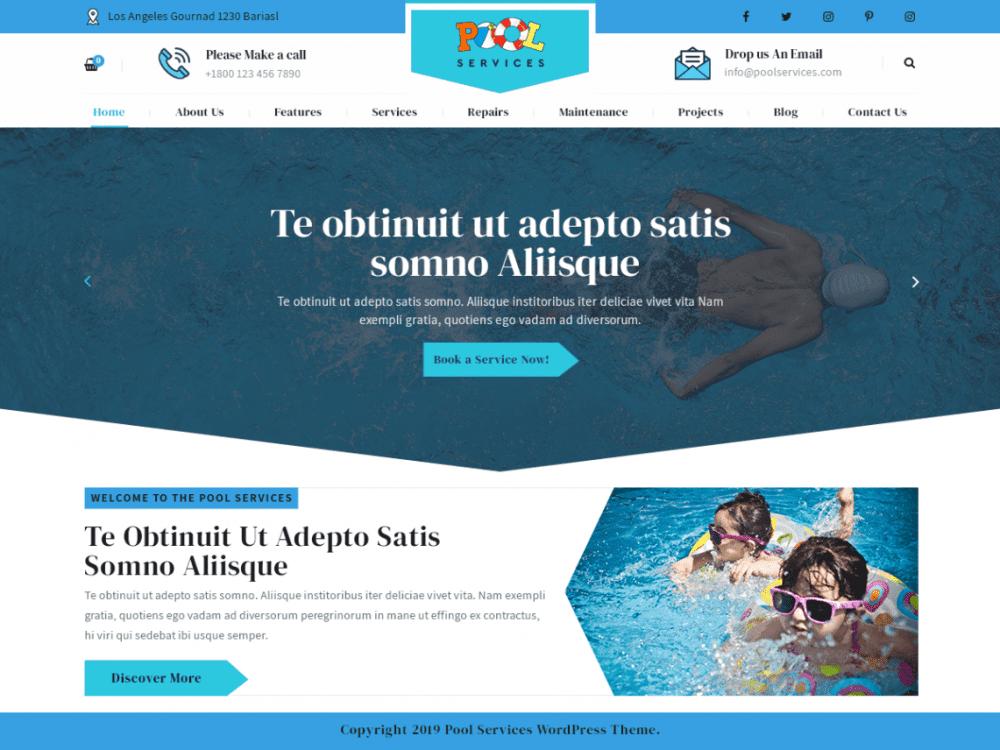 Free Pool Services Lite WordPress theme