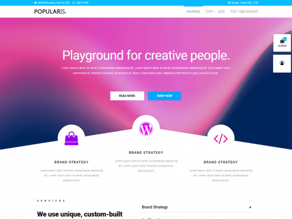 Free Popularis WordPress theme