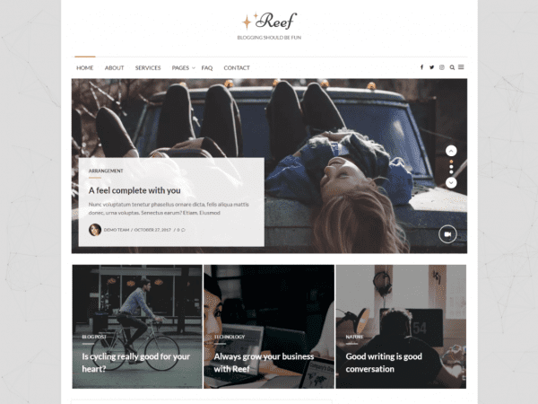 Free Reef WordPress theme