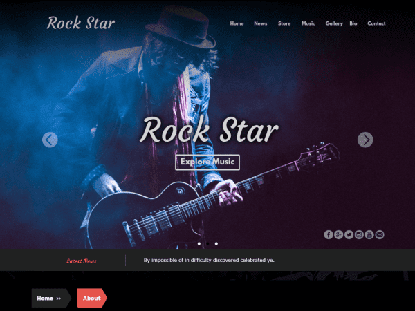 Free Rock Star WordPress theme