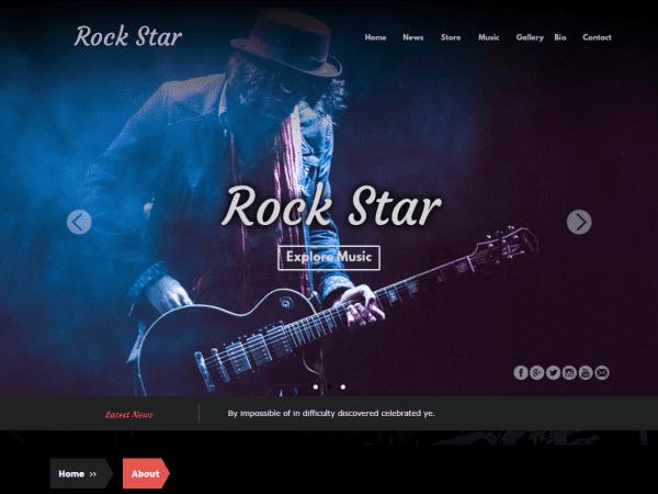 Free Rock Star WordPress theme
