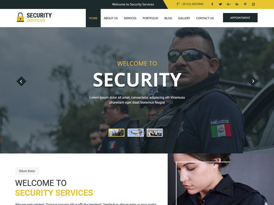 Free Secure WordPress theme