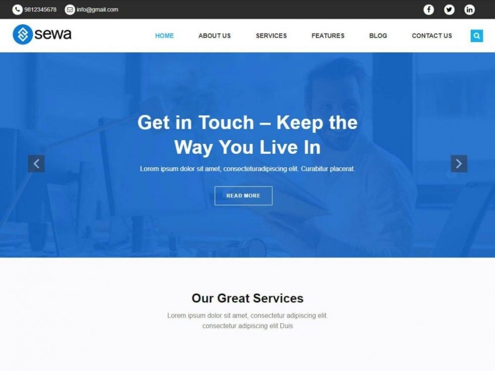 Free Sewa WordPress theme