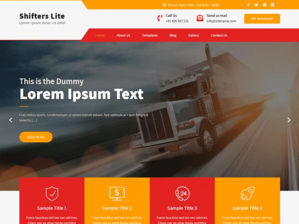 Free Shifters Lite WordPress theme