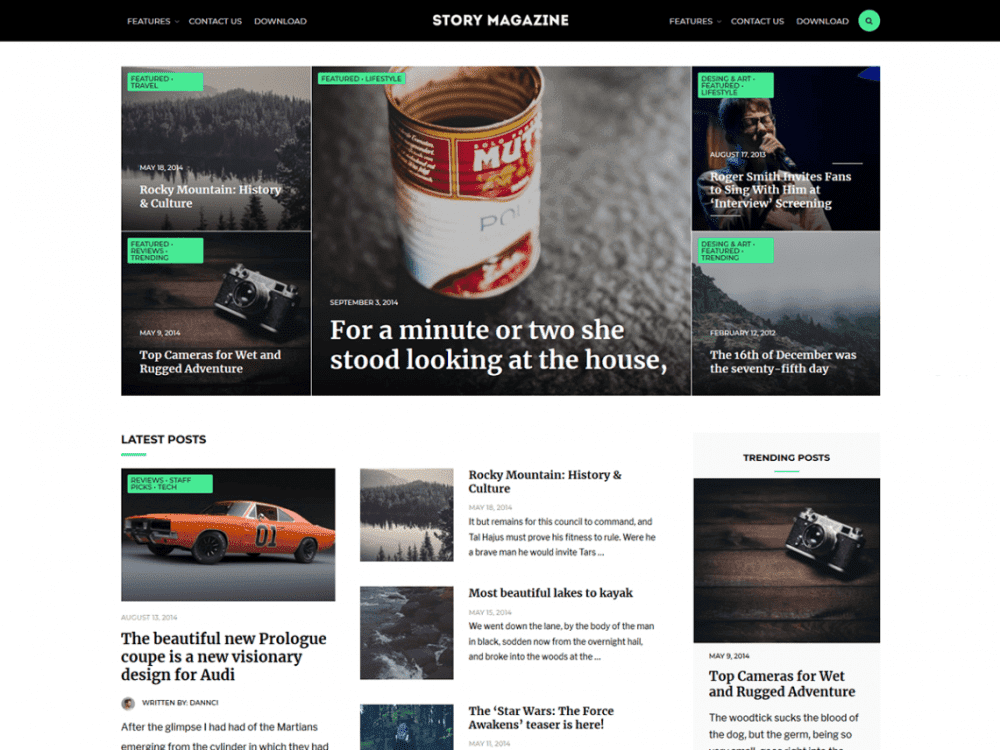 Free Story Magazine WordPress theme