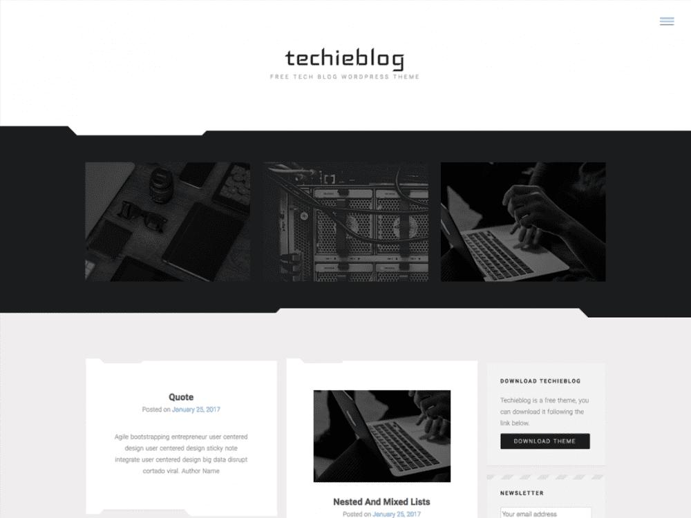 Free Techieblog WordPress theme