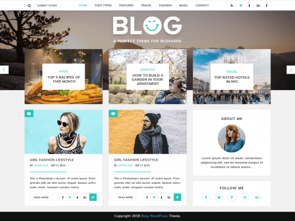Free VW Blog Magazine WordPress theme