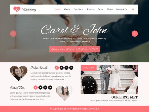 Free VW Wedding WordPress theme