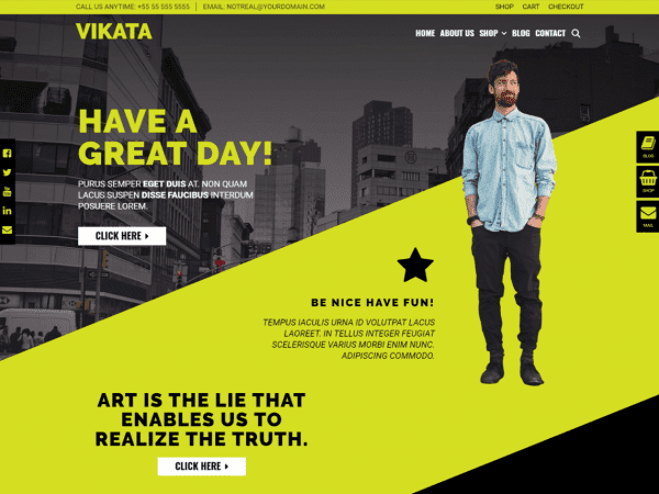 Free Vikata WordPress theme