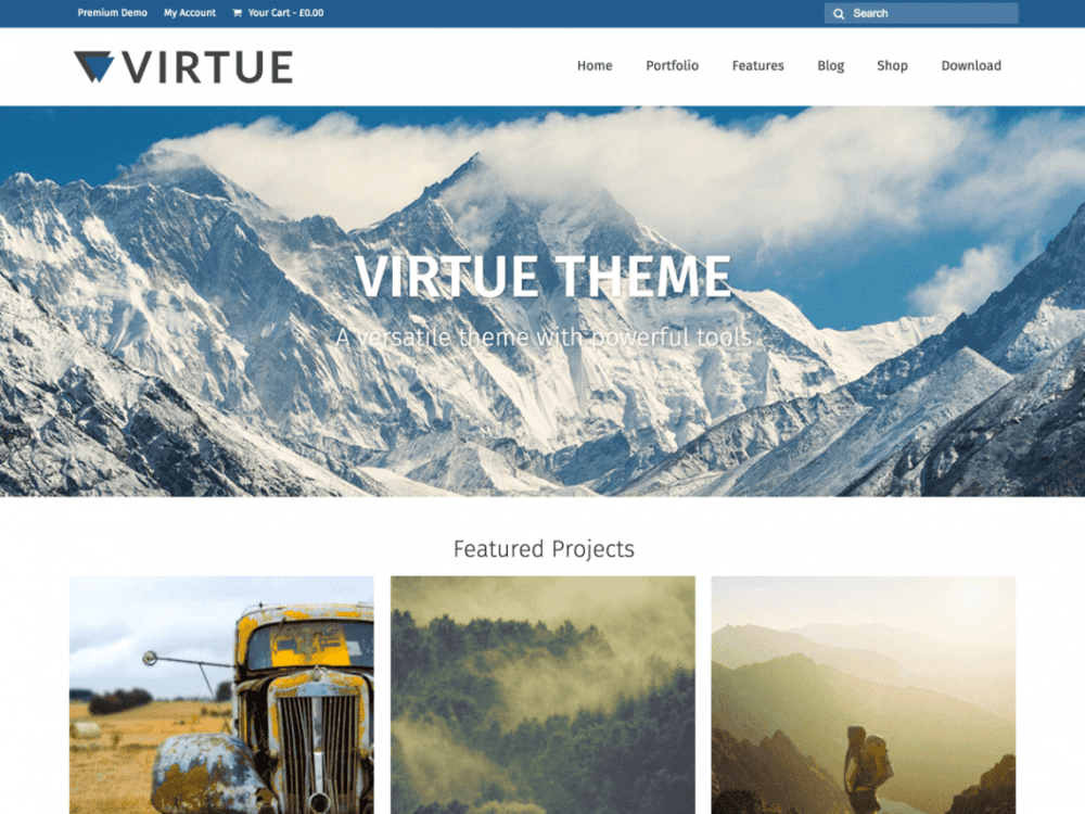 Free Virtue WordPress theme