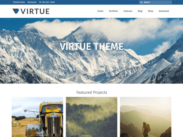 Free Virtue WordPress theme