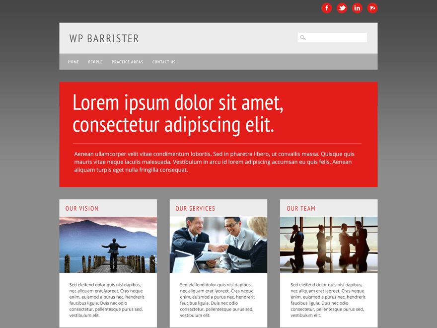 Free WP Barrister WordPress theme