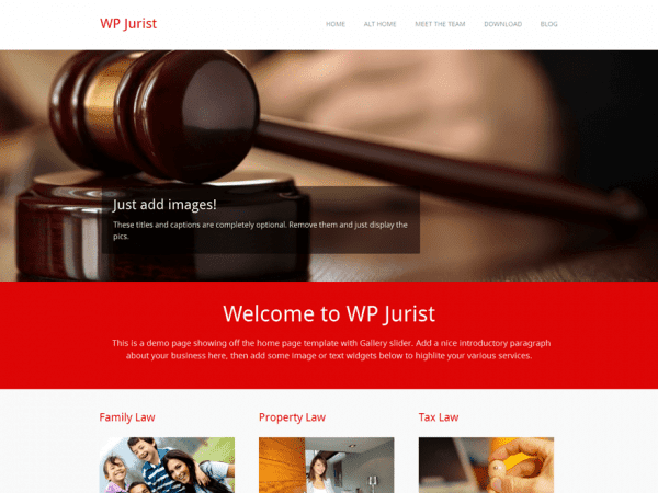 Free WP Jurist WordPress theme