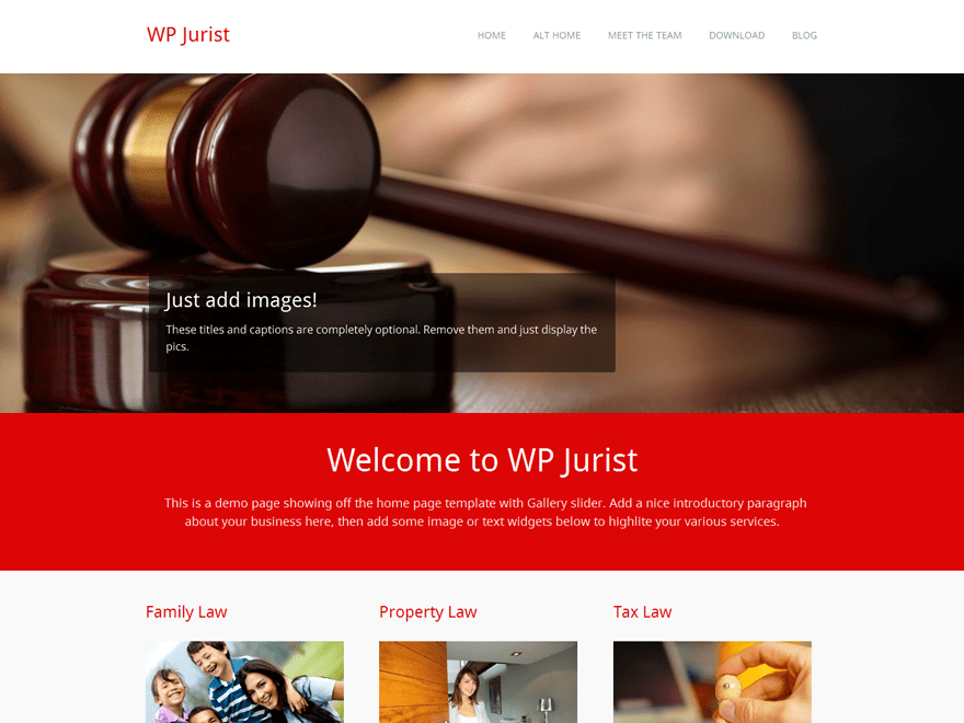 Free WP Jurist WordPress theme