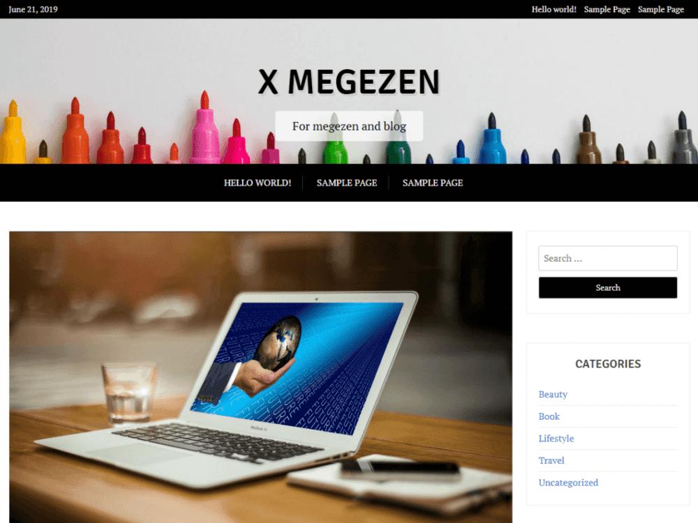 Free X Magazine WordPress theme