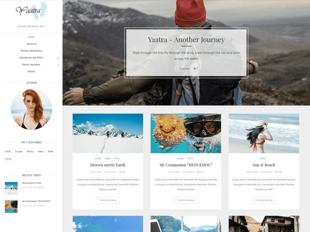 Free Yaatra WordPress theme