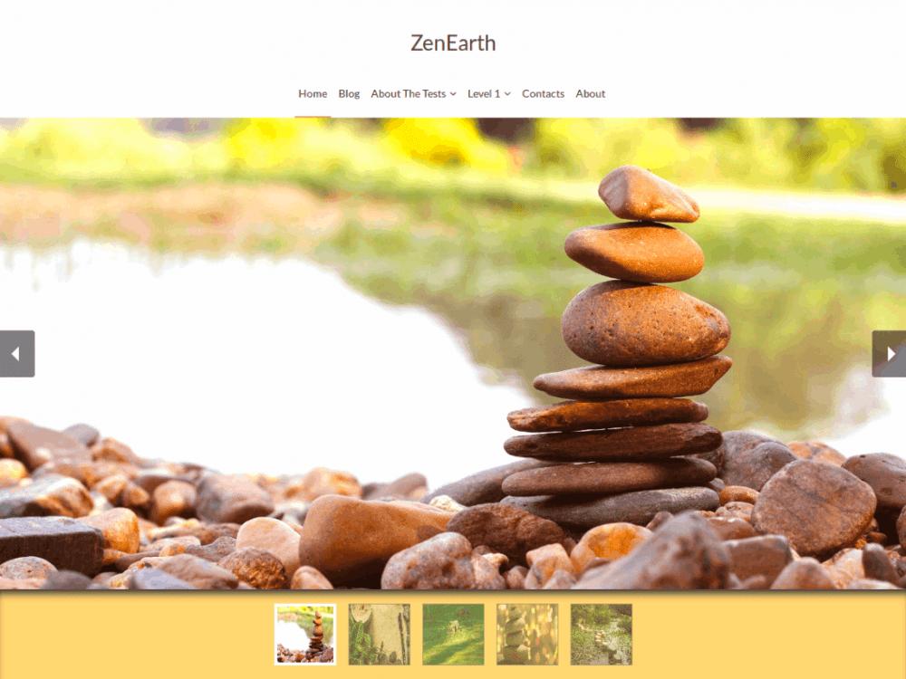 Free ZenEarth WordPress theme
