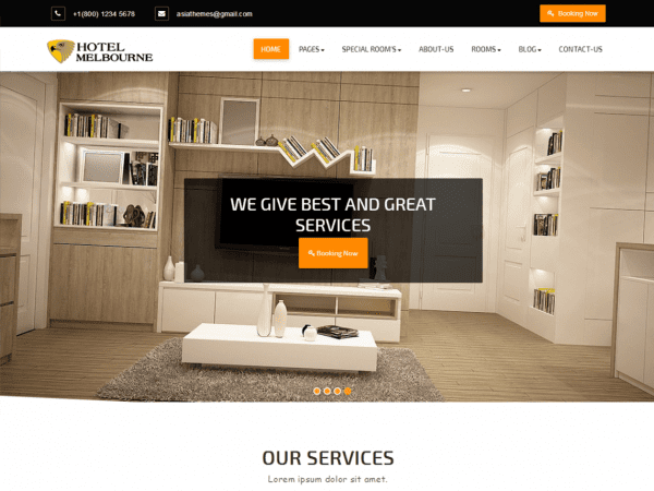 Free Abacus Hotel WordPress theme