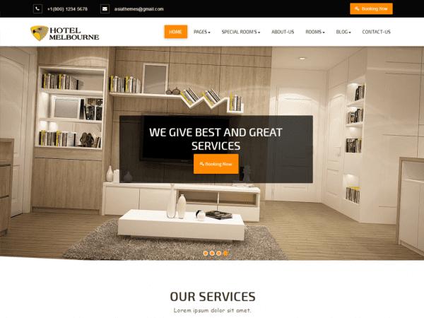 Free Abacus Hotel WordPress theme