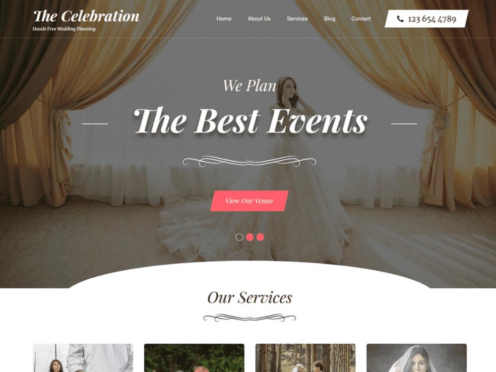 Free Banquet Hall WordPress theme