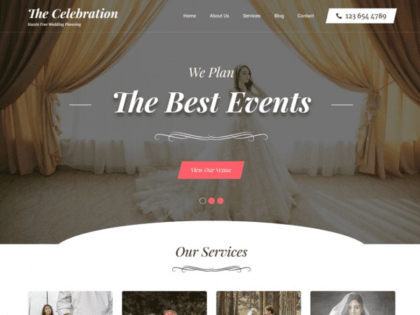 Free Banquet Hall WordPress theme