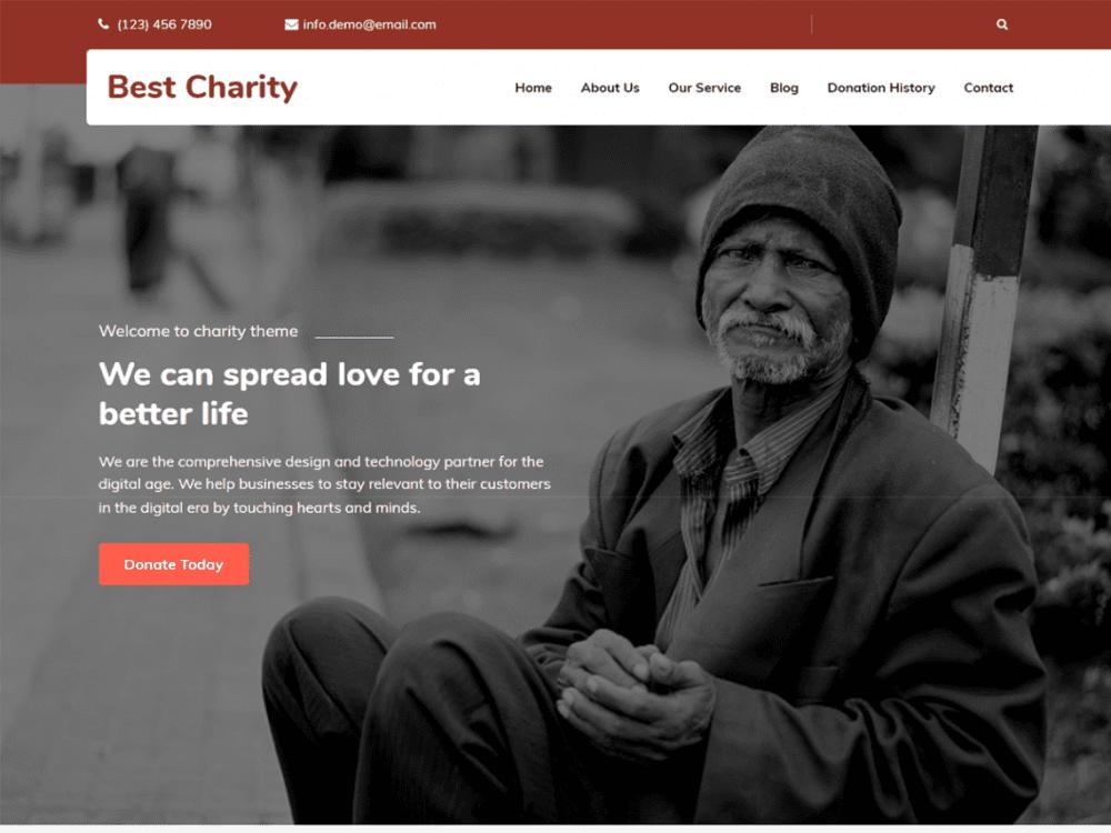 Free Best Charity WordPress theme