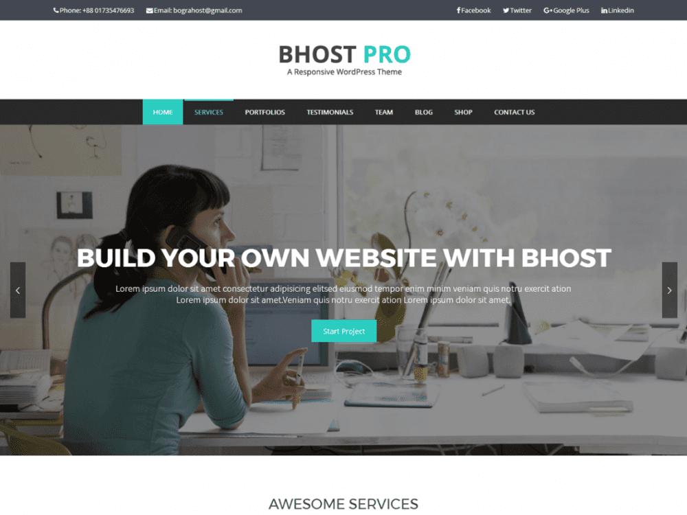 Free Bhost WordPress theme